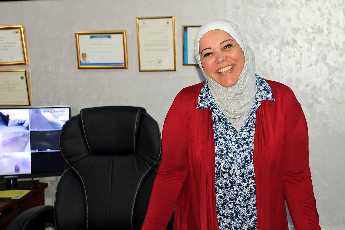 Principal Abeer Al-Muhaisen has observed a different teaching atmosphere since the school rehabilitation was started.