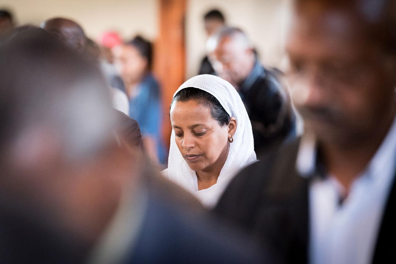 Sunday worship, Addis Ababa Evangelical Church Mekane Yesus, Ethiopia.