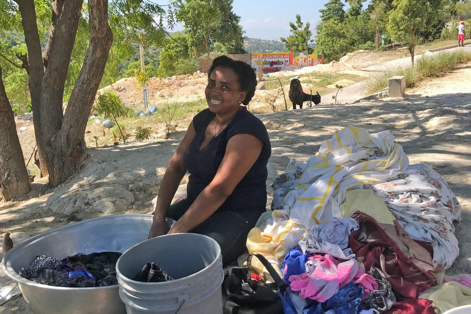 Nadine Joseph, who started a new life after the earthquake in Gressier.