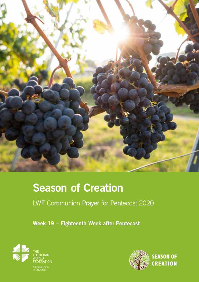 Season of the Spirit - LWF Communion Prayer for the Pentecost 2020: Week 19
