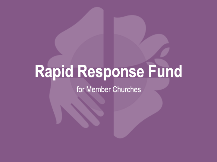 The LWF Communion Office has created a space for showing solidarity by setting up a COVID-19 Rapid Response Fund