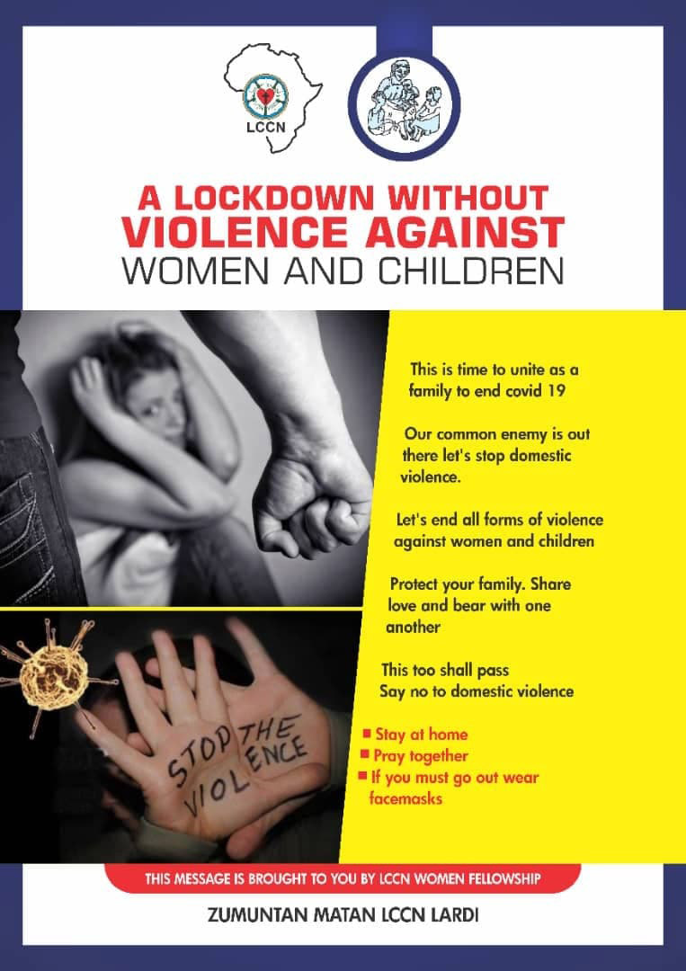 The LCCN Women's Fellowship has distributed fliers calling for an end to violence against women and children during lockdown