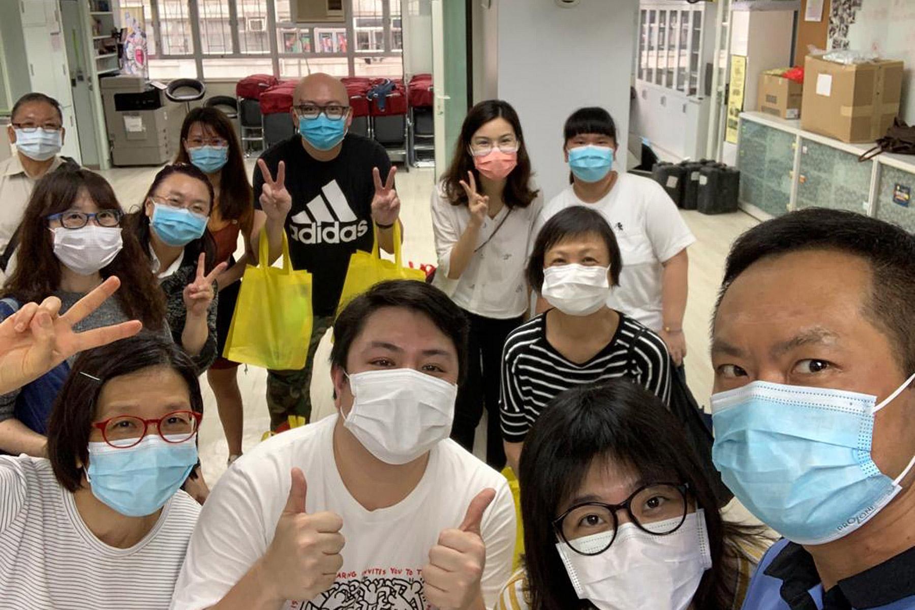 Volunteers at the Eternal Life Lutheran Church in Hong Kong