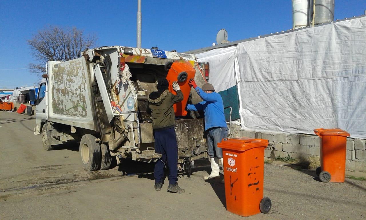Garbage collection in Dawodiya camp
