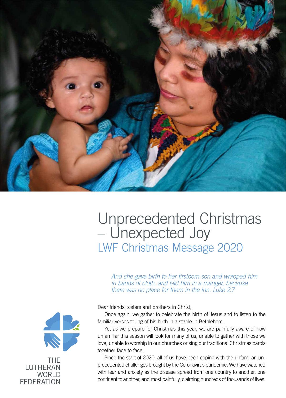 Christmas Message 2020