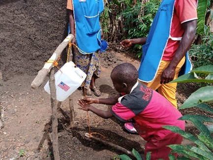Hand washing with 'tippy taps' are a cornerstone of the prevention campaign.