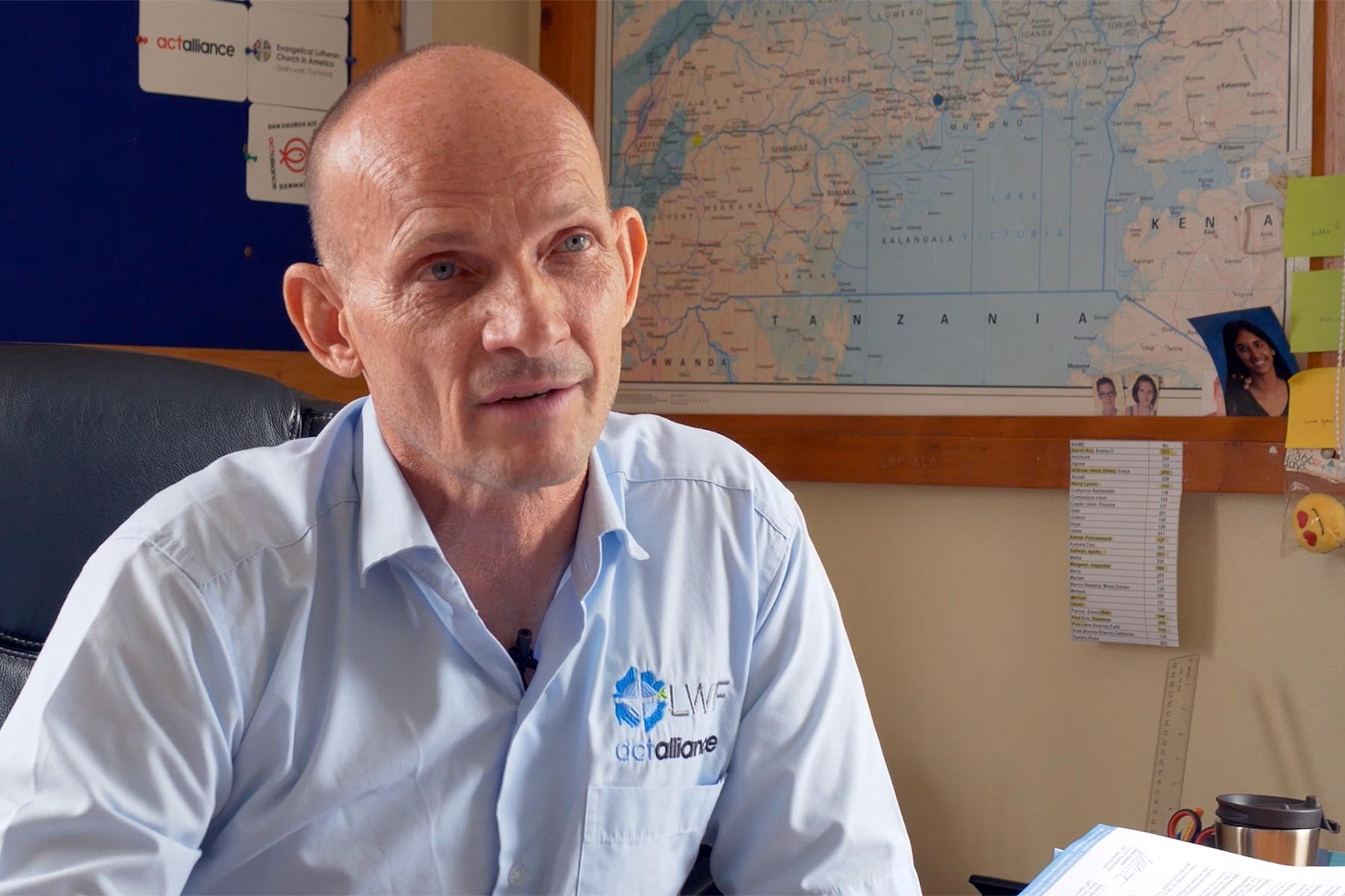 Jesse Kamstra, LWF Country Representative in Uganda, explains how staff are responding to the crisis.