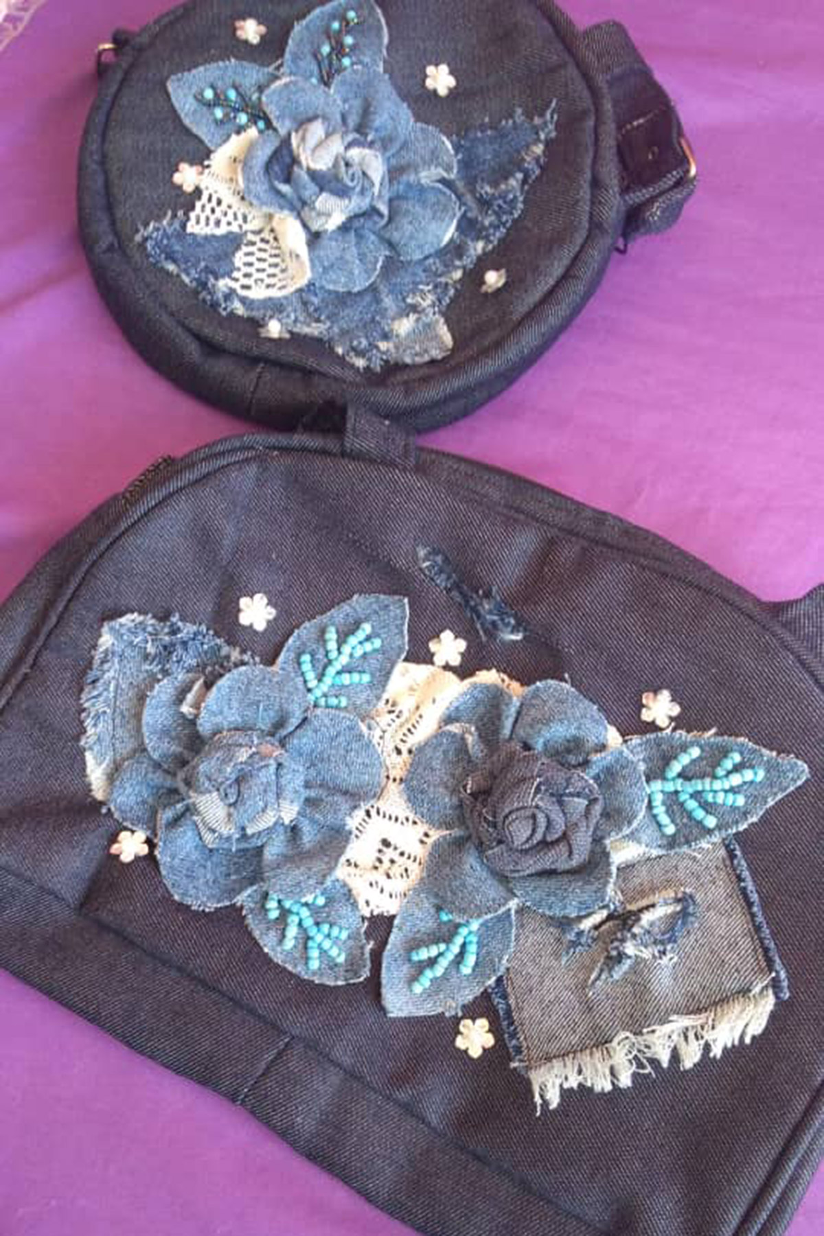 """House slippers, tablecloths, and beautifully decorated purses, are among the many items produced by women at the """"House of Friendship."""""""