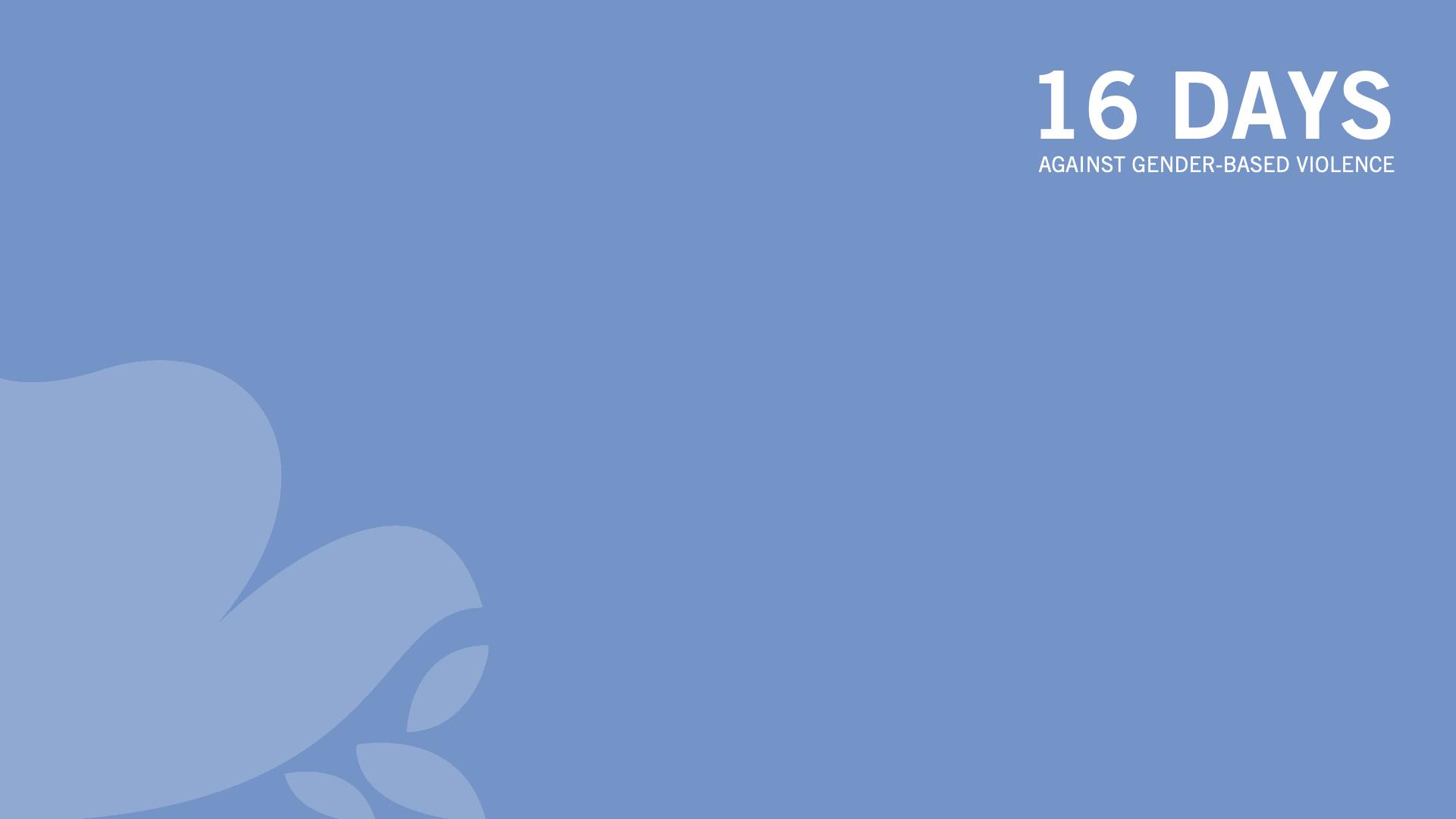Zoom background 16 Days - Blue