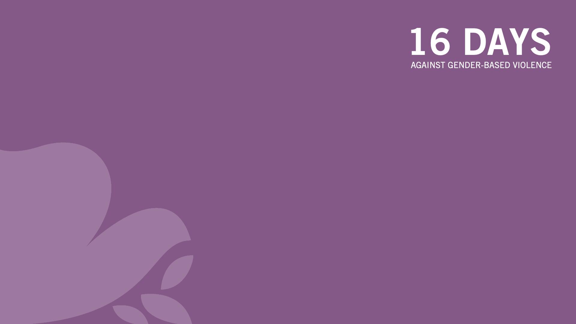 Zoom background 16 Days - Purple