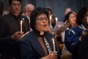 Worship service to mark the 20th anniversary of the Joint Declaration on the Doctrine of Justification, at Geneva cathedral, in June 2019. The liturgy from that service will be used in Reformation Day services world wide today. Photo: LWF/ A. Hillert