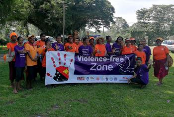 Members of the Evangelical Lutheran Church in Papua New Guinea take part in activities for the 2019 campaign against Gender-Based Violence. Photo: ELCPNG/Asenath TUBIAN