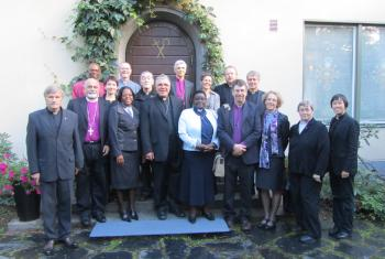 ALICC members in front of the Bishop's house in Tampere, Finland. Photo: ELCF