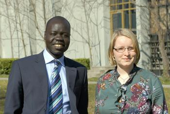 Dr. Ojot Ojulu (left) and Rev. Rebecca Ruggaber are joining the LWF Department for Theology and Public Witness. Photo: C. Kästner/LWF