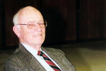 Dr. Arne Sovik during a visit to the LWF Geneva office in 1999. Photo: LWF/C. Rothenbühler