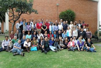 Lutheran leaders from Latin America and the Caribbean at the Mexico City leadership conference. Photo: Adriana Castañeda