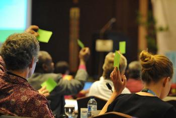 Council members vote on LWF decisions. Photo: LWF/M. Renaux