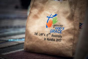 """9 May 2017, Windhoek, Namibia: Liberated by God's Grace imprinted everything at the Twelfth Assembly of the Lutheran World Federation, gathering in Windhoek, Namibia,10-16 May 2017, under the theme """"Liberated by God's Grace"""", bringing together some 800 delegates and participants from 145 member churches in 98 countries. Photo: LWF/Albin Hillert"""