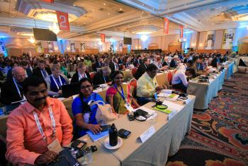 The Twelfth Assembly of the Lutheran World Federation, gathers in Windhoek, Namibia, on 10-16 May 2017. Photo by LWF/Brenda Platero