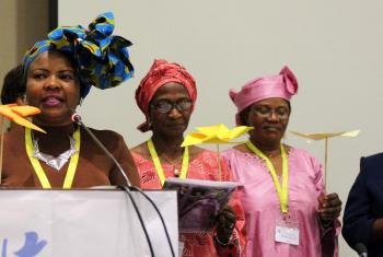 Presenting the Women's Message at the Africa Pre-Assembly. Photo: LWF/A. Weyermüller