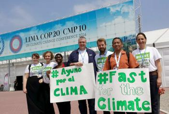 LWF delegates and other advocates at the COP 20 climate change conference in Lima, Peru, in 2014. Photo: LWF/Sean Hawkey