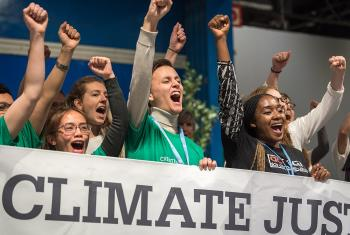 LWF delegates join ecumenical partners in calling for climate justice at COP25 in Madrid. All photos: LWF/Albin Hillert