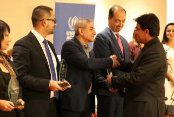 "The UNHCR ""Living Integration Seal"" recognizes ILCO and 26 other public and private organizations for their response to refugees and asylum seekers in Costa Rica. Photo: UNHCR/Austin Ramírez"