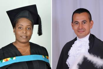 Most graduates of theology on LWF-supported scholarships return home to serve their churches. Mozambican Zelda Cristina Cossa (left) studied in South Africa and Rev. Rolando Antonio Ortez Martínez, president of the Christian Lutheran Church of Honduras was a student in Brazil. Photos: Private