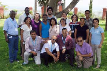 Representatives from nine Lutheran World Federation (LWF)  member churches in Latin America and the Caribbean. Photo: LWF/ Peru