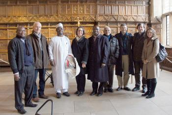 Christian and Muslim participants of the 2014 consultation in Germany, visiting the Hall of Peace in Münster, which commemorates the 1648 Treaty of Westphalia. Photo: Marion von Hagen