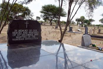 Memorial for the 12 Namibian heroes at the local cemetery in Windhoek. Photo: LWF/H. Martinussen