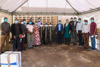 Evangelical Lutheran Church in Tanzania hospitals receive 100 oxygen cylinders and Personal Protective Equipment from the Lutheran Mission Cooperation (LMC) to help meet demand. Erick K. Adolph/ELCT