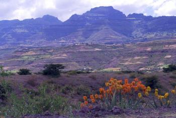 Landscape in Amhara province, the state bordering Tigray, Ethiopia. Photo: LWF/ C. Kästner