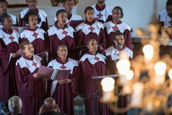 A choir of the Addis Ababa Evangelical Church Mekane Yesus, Ethiopia. All photos: LWF/Albin Hillert