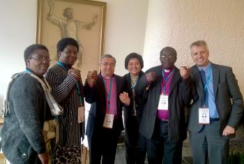 LWF church leaders #fastfortheclimate at the Partnership Consultation of the Evangelical Lutheran Church of Finland. Photo: LWF