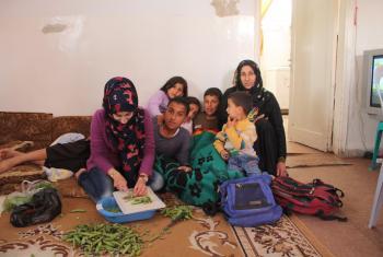 Sabha's family in Mafraq, northern Jordan. Photo: Kristy Bergman-Schroeder/CLWR