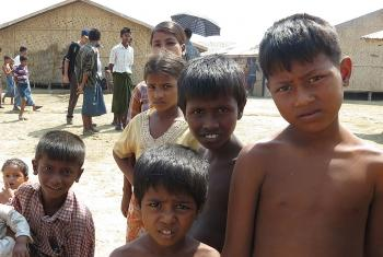 IDP children at Say Tha Mar Gyi Camp in Rakhine State. Photo: LWF Myanmar