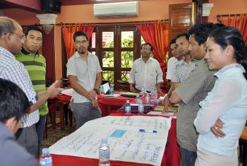 Staff from LWF programs in Bangladesh, Cambodia, India, Indonesia, Myanmar and Nepal took part in the June training. Photo: Leak Ratna