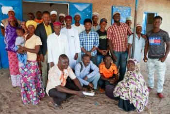 A group of refugees in Dosseye camp in southern Chad who are benefitting from LWF's project for improved livelihood and access to land. (Photos taken before the outbreak of the COVID-19 pandemic). All photos: LWF/Ophélie Schnoebelen