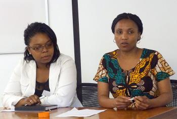 Christine Mangale (right) says the July training workshop on women's human rights that she attended in Geneva, complements ongoing advocacy by the Lutheran Office for Wold Community in New York. Photo: LWF/P. Mumia