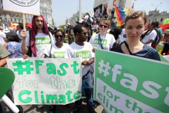 The Global March for the Climate on 10 December 2014. Photo: LWF/Sean Hawkey