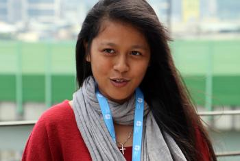 The LWF's Global Young Reformers Network member Sumita Chin, from the Lutheran Church in Malaysia, describes the challenges facing youth ministries in many Lutheran churches in Asia. Photo: LWF/S. Lawrence