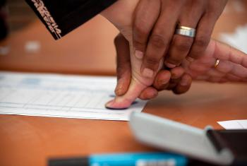 Refugees and displaced persons supply fingerprints as a way to establish and track identity.  Photo: Creative Commons