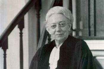 Rev. Jantine Auguste Haumersen (1881-1967) was the first ordained Lutheran woman in the Netherlands.Photo: Evangelisch-Lutherse Gemeente Kampen/Piet Stuurop