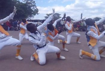 Gobole dancers on stage. Photo: LWF/ L. Hernander