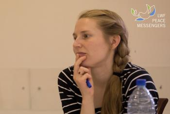 Anna Sisko during a workshop of the Peace Messengers training in Jerusalem. Photo: LWF / Ben Gray