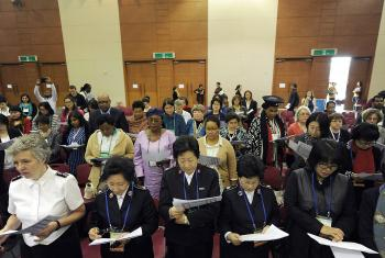 WCC 10th Assembly, Women & Men'€™s Pre-Assembly. Opening Prayer. Photo: Peter Williams/WCC