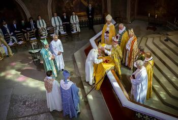 The installation of Archbishop Tapio Luoma in Turku cathedral, Finland. Photo: Timo Jakonen