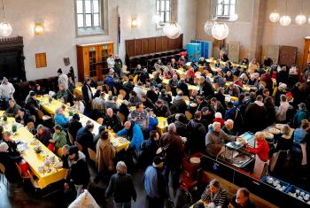During the weeks of Vesper Church it is very busy in Stuttgart's St. Leonhard's Church. Photo: ELK-WUE/Monika Johna