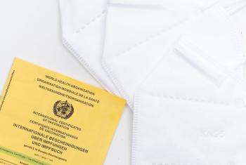 The World Health Organization's international certificate of vaccination. Photo: Markus Winkler/Unsplash